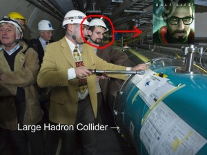 Gordon Freeman spotted at cern.